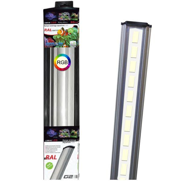 LUMIVIE RAL G2 RGB 20W 60 cm - Rampe LED pour aquarium d'eau douce