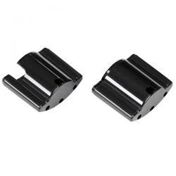 AQUATLANTIS Embouts en plastique noir pour rampes EasyLED Universal (1200 - 1450 mm)