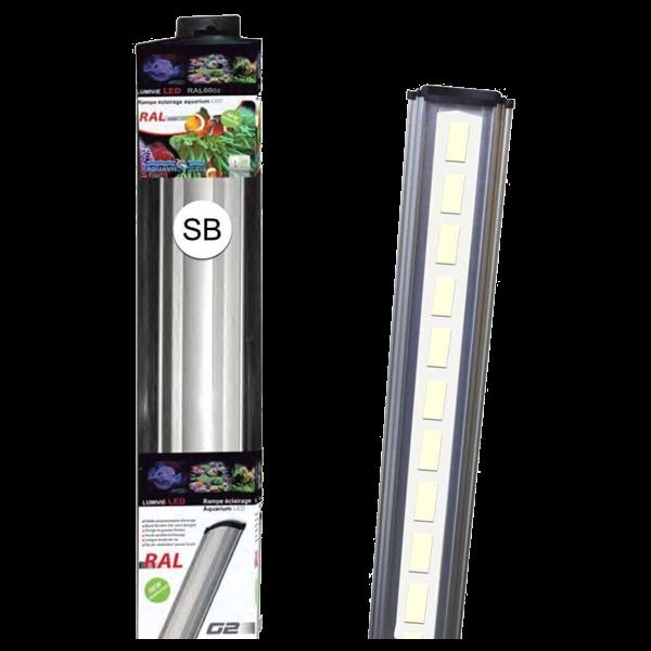 LUMIVIE RAL G2 40 Watts LEDs blanches Rampe pour Eau Douce et Eau de Mer - 120cm